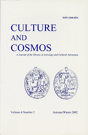 Culture and Cosmos Vol 6-2